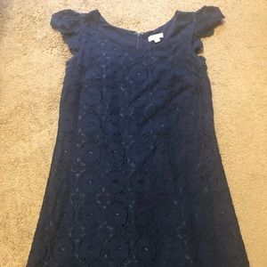 Navy blue shift dress from target. Lace
